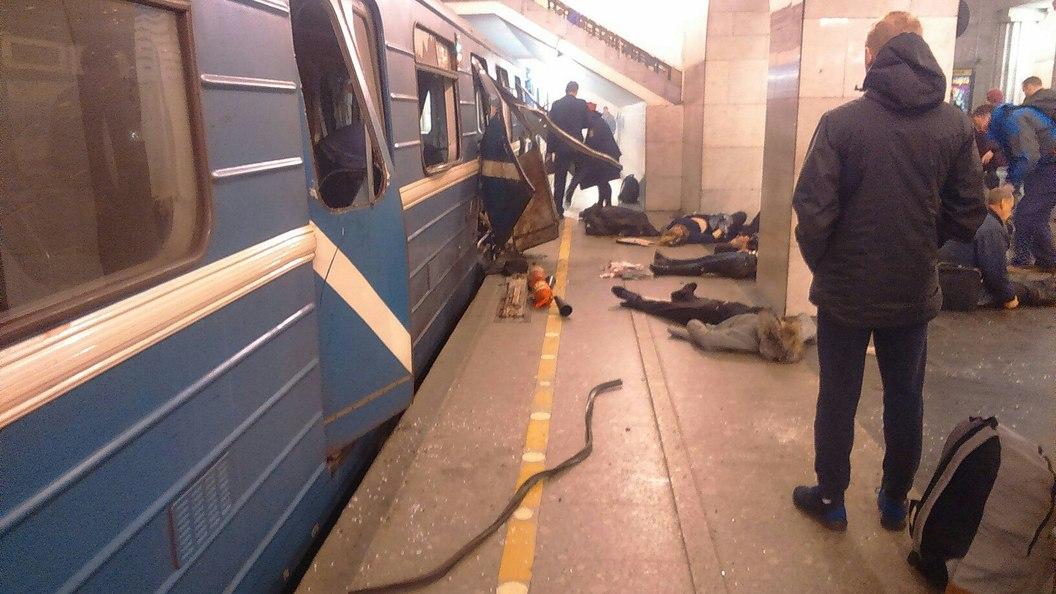 Личности четырех пострадавших при взрыве в метро не могут установить