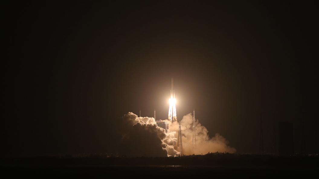 Пуск китайской ракеты Великий поход-5 провалился