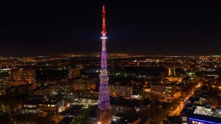 Праздничную подсветку включат на нижегородской телебашне в честь «Студенческой весны»