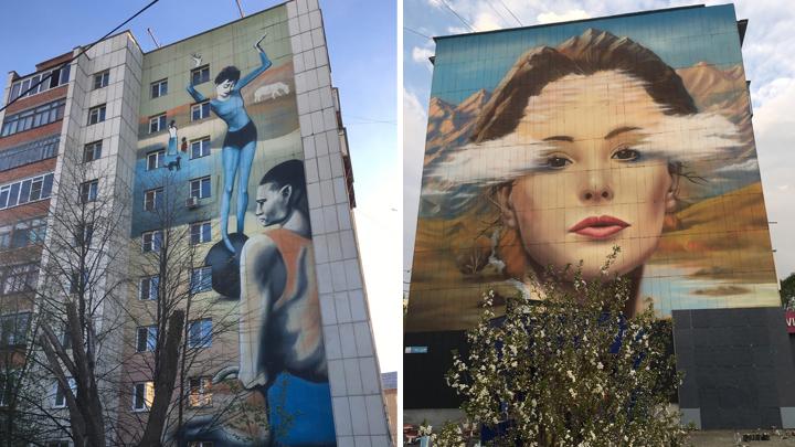 В 13 городах и селах Челябинской области художники разрисуют стены домов