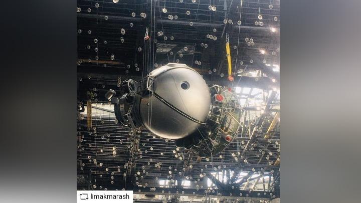 Космический корабль «Восход-2» установили в кемеровском аэропорту