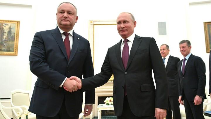 Наши братские отношения никому не разрушить: Игорь Додон о союзе России и Молдавии