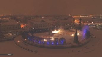 В Петербурге прошел фестиваль огня «Рождественская звезда»