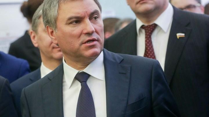 Хотели ручного президента - Володин раскрыл стратегию Запада по России