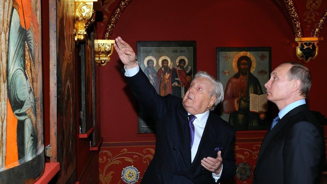 В соборе Сретенского монастыря продолжается прощание с Ильей Глазуновым