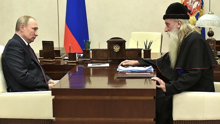 Работа над историческими ошибками: Старообрядческий митрополит Корнилий встретился с Владимиром Путиным