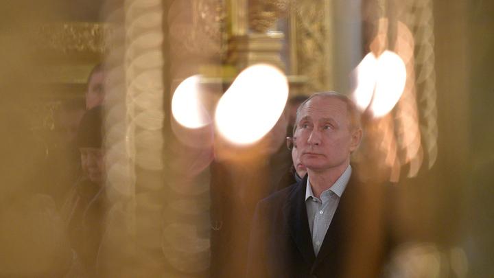 Президент России прибыл на Пасхальное богослужение в Храм Христа Спасителя