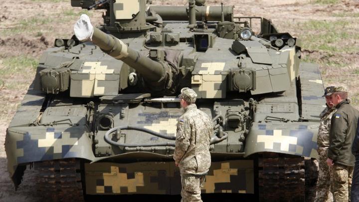 Украинский танк порвали за секунды