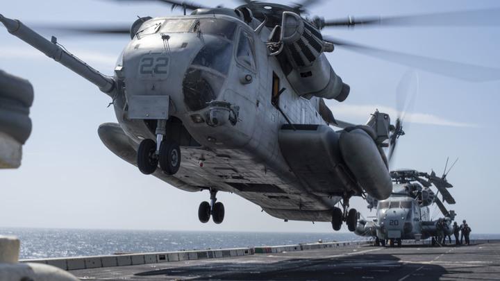 В США при крушении военного вертолёта погибли люди