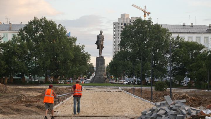 Сдача сквера на площади Горького вновь переносится в Нижнем Новгороде