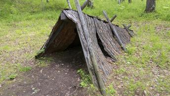 Пропавший в лесу четырехлетний малыш соорудил шалаш, дожидаясь спасателей