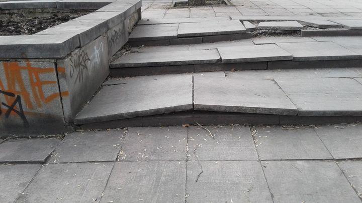Мэрия Екатеринбурга нашла новых виноватых в разрушении плитки на Плотинке