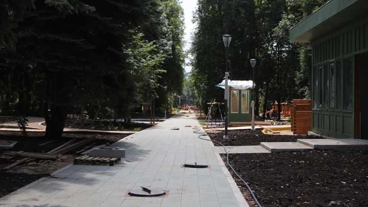 Темпы реконструкции нижегородского парка «Швейцария» опережают установленный график
