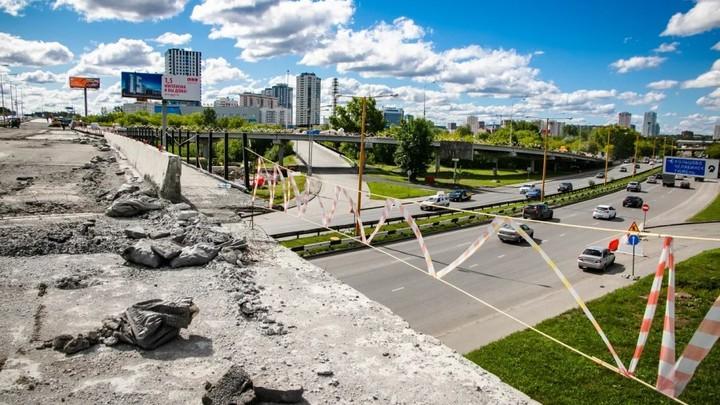 Ремонт развязки на Луганской-Объездной в Екатеринбурге может затянуться