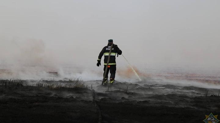 В районе, где белорусские пожарные тушат торфяники, заканчивается вода