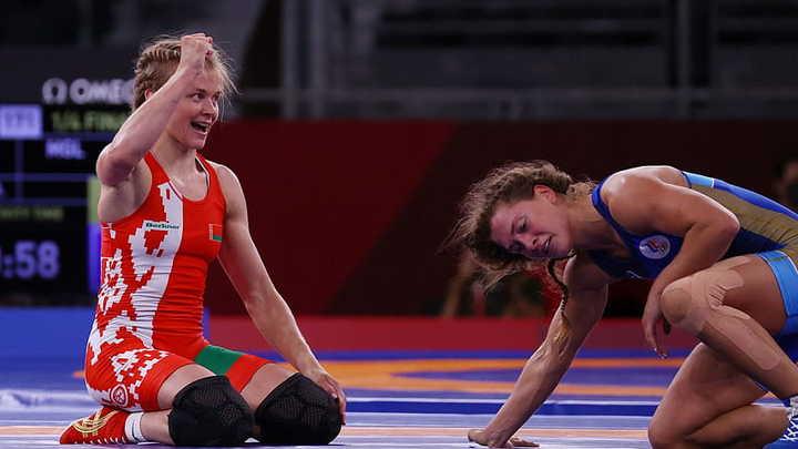 Белорусский борец Ирина Курочкина справилась с двумя соперницами на ковре