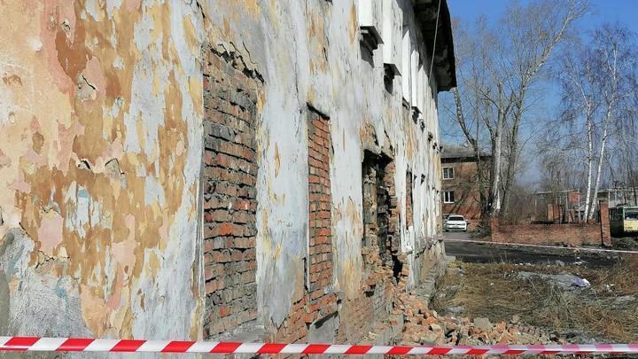В Кузбассе обрушилась стена жилого дома