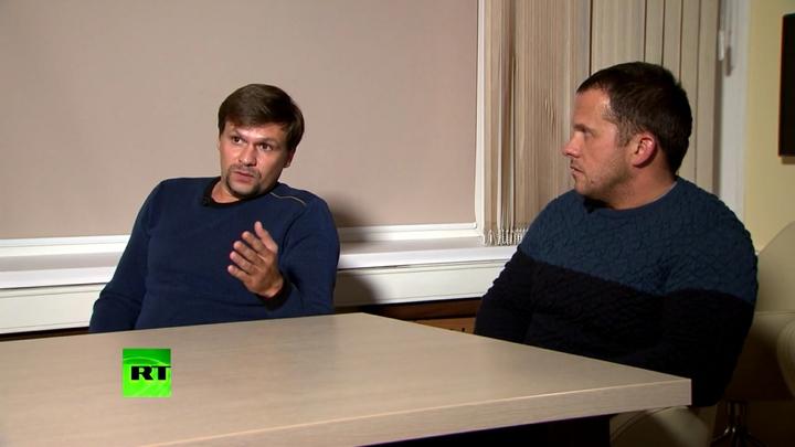 Шпионы, изображающие туристов нароссийском ТВ- интервью Боширова иПетрова попало вамериканский рейтинг