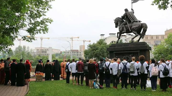 В Москве увековечили память небесного покровителя русского воинства князя Дмитрия Донского