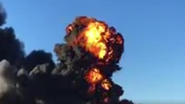Опубликовано видео взрыва на химическом заводе в Валенсии