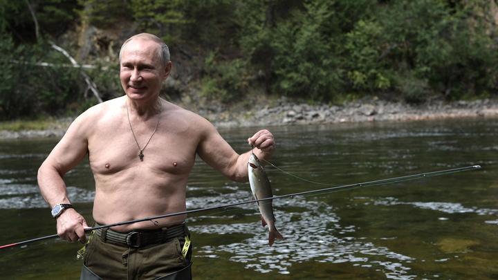 Фотографии с рыбалки Путина поразили западных журналистов