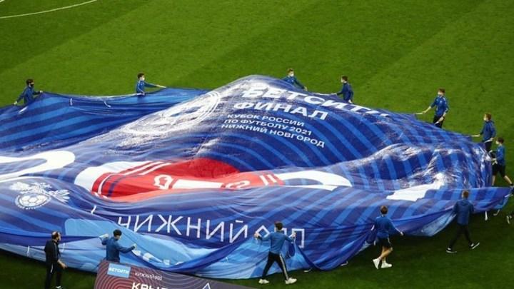 Зрители пожаловались на грязные сиденья стадиона «Нижний Новгород» на Кубке России