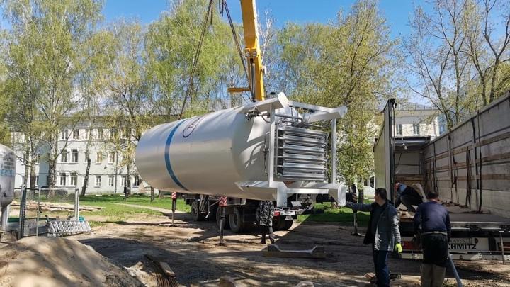 Около коломенского ковидного госпиталя поставили установки для добычи кислорода из воздуха