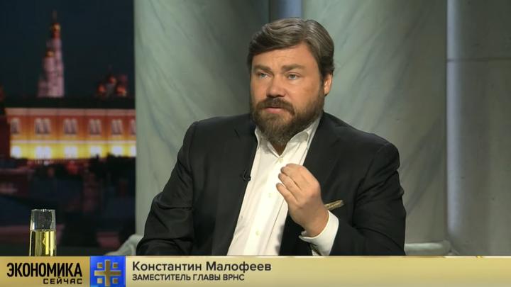 Нет повода не выпить: Малофеев в прямом эфире безалкогольным шампанским отметил отставку правительства