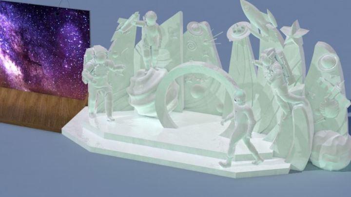 Ледовый городок Челябинска украсят фигуры космонавтов и звездное небо