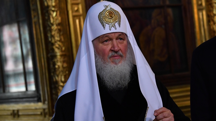 Патриарх Кирилл освятил храм преподобной Евфросинии в Москве