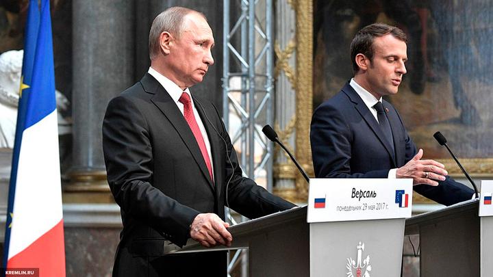 Михеев: Фигуры Путина и Макрона несопоставимы