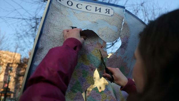 В соцсетяхобсуждают карту России от «Леруа Мерлен»без Сахалина и Калининграда - видео