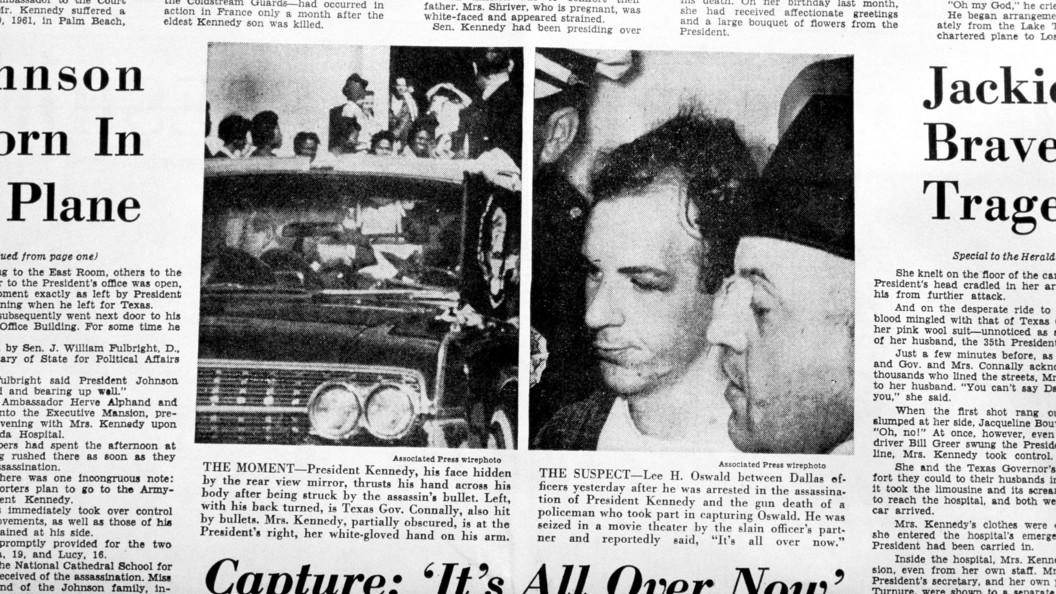 Английского репортера предупредили о«больших новостях» за25 мин. доубийства Кеннеди