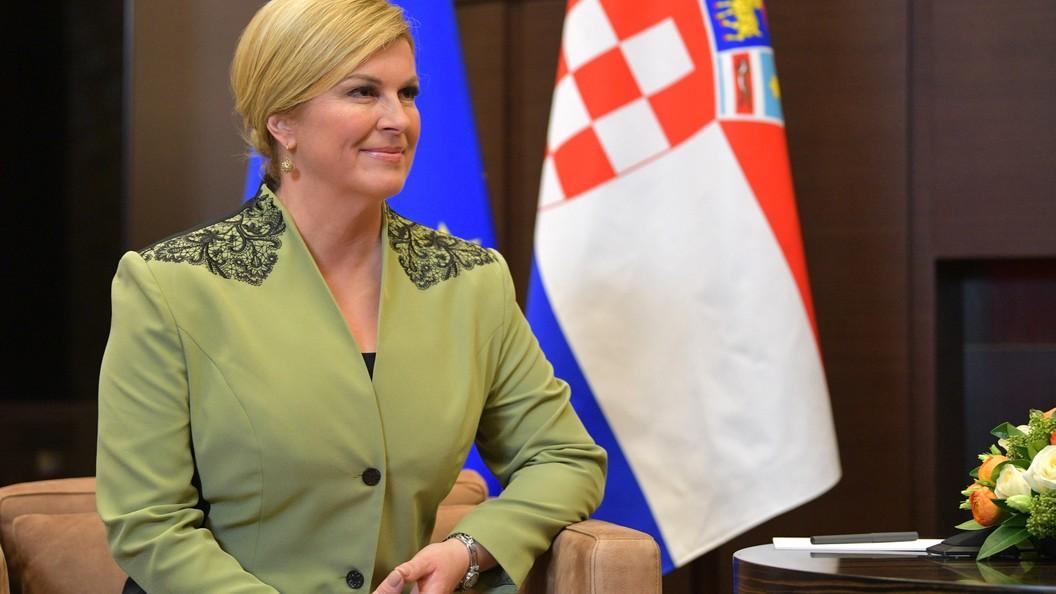 Теперь ждем в гости - президент Хорватии поздравила Путина с победой на выборах