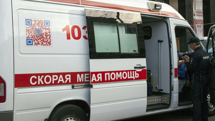 Упавший билборд МВД России тяжело ранил трех прохожих в Петербурге