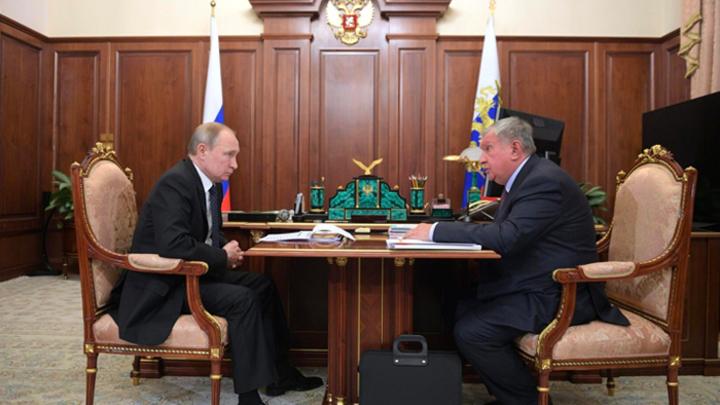 2%-ая прибавка к ВВП: Глава «Роснефти» доложил Путину о проекте «Восток Ойл»