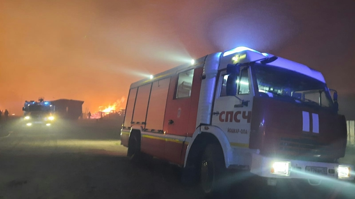 В центре Екатеринбурга в парке Зеленая Роща вспыхнул пожар