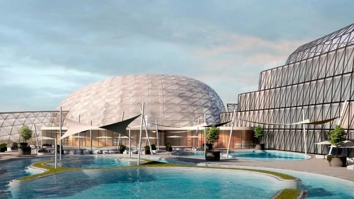 Конкуренция парку Галицкого: Краснодарцам показали, как будет выглядеть аквапарк на Затоне