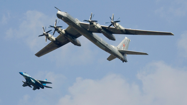 Российские Ту-95МС заставили понервничать военных пилотов Японии и Южной Кореи