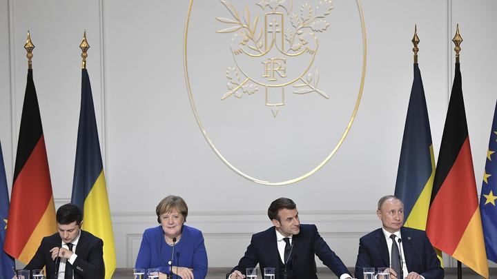 Извините, привычка... Шутили Путин и Зеленский, а досталось Макрону и Меркель - соцсети