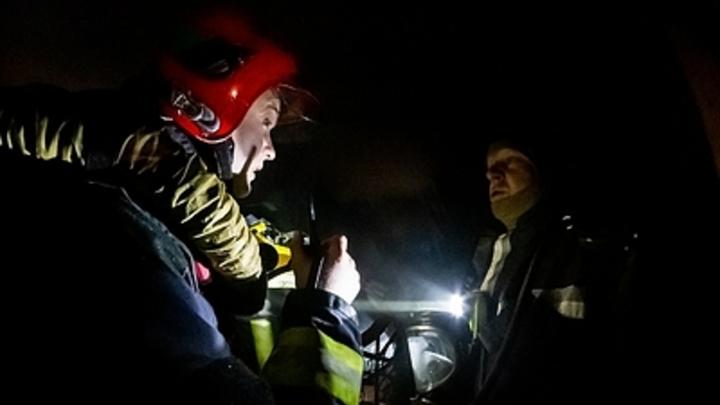 В Чите из ночного пожара спасли двух человек, третий погиб