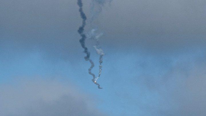 Громкий взрыв и зарево. Появилось видео со сбитым в Армении российским вертолётом