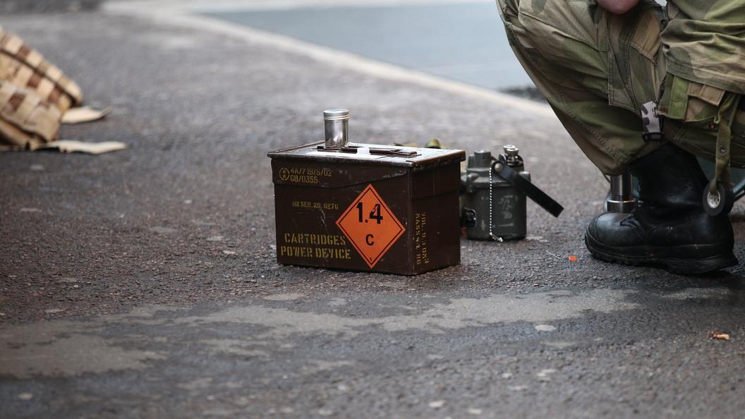 На площади в Петрозаводске произвели контролируемый подрыв