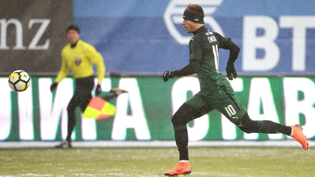 Федора Смолова накажут замат наполе вовремя матча «Краснодар»-
