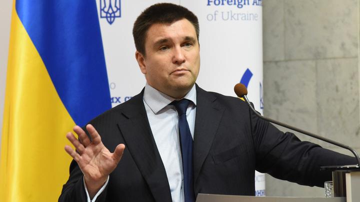 Не усидел в политическом отпуске: Глава МИД Украины Климкин начертил красную линию в Донбассе