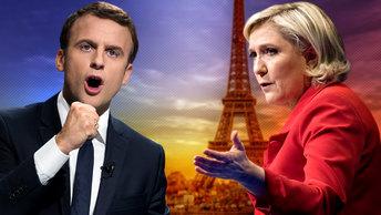 Бои без правил: о чем будут вечерние дебаты Ле Пен и Макрона