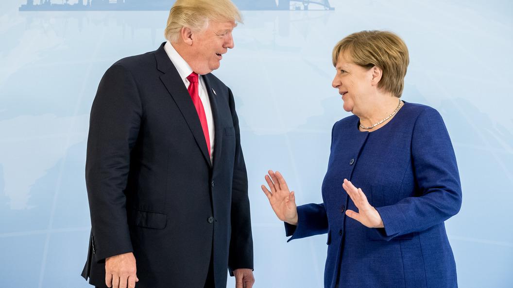 Белый дом рассказал, как прошла встреча Трампа и Меркель