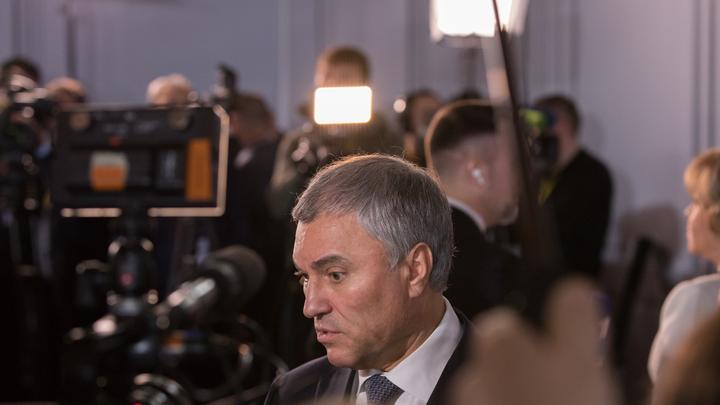 Дедолларизация ФНБ позволит России избежать судьбы Ирана - Володин