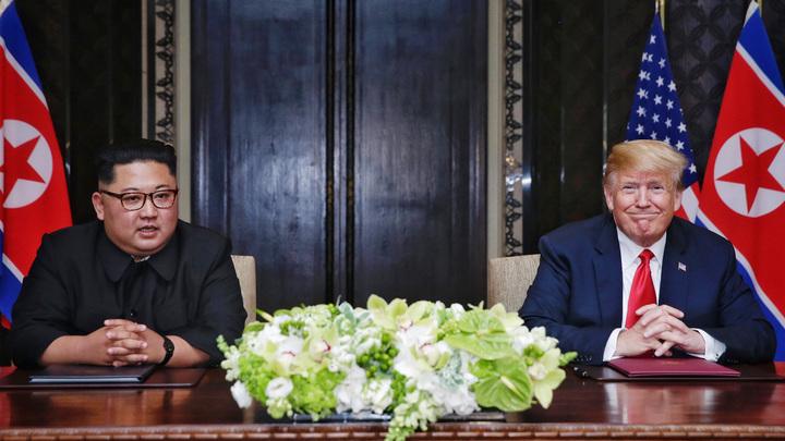 Перед встречей с Кимом Трамп допустил отмену санкций против КНДР