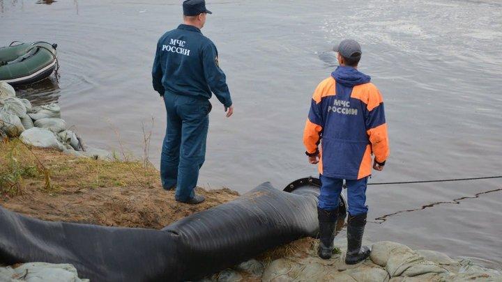 В Новосибирске затопило пешеходные мосты через реку Каменка